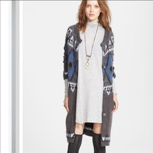 Free People Frosted Fair Isle Sweater Cardigan